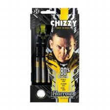 Harrows Chizzy 80% Tungsten Darts (Black Yellow) 22g
