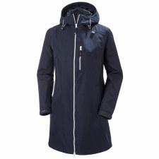 Helly Hansen Womens Long Belfast Jacket (Navy) Small