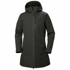 Helly Hansen Womens Long Belfast Winter Jacket (Beluga Green) Small