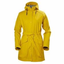 Helly Hansen W Kirkwall Rain Coat Yellow Small