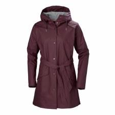 Helly Hansen W Kirkwall Rain Coat Purple Small