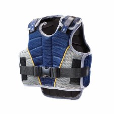 Harry Hall Zeus Body Protector Junior (Navy Grey Gold) Medium Boys
