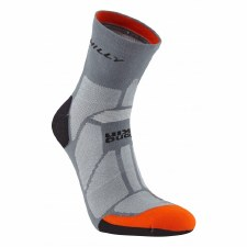 Hilly Marathon Fresh Anklet Mens (Black/Orange) Medium