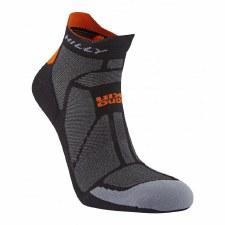 Hilly Marathon Fresh Socklet (Black Orange) Large