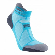 Hilly Marathon Fresh Socklet Ladies (Blue/Grey) Small