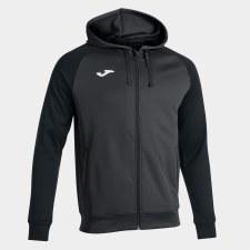Joma Academy IV Zip Hoodie (Grey Black) Small
