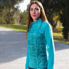 Joma Elite VIII 1/2 Zip Sweat (Turquoise Pattern) XS