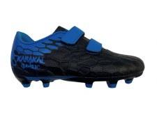 Karakal Firm Ground Velcro Boots (Black Blue) 10