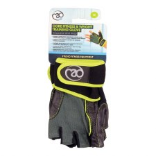Fitness Mad Core Weight Training Gloves (Black Lime) Large