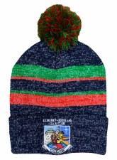 CS KIB Bobble Hat (Melange Navy Green Red) One Size