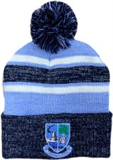 CS Kildysart GAA Bobble Hat (Melange Navy Sky White) OSFA