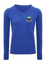 Asquith & Fox Kilrush Golf Club Womens V Neck Jumper (Royal) XS