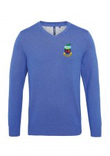 Asquith & Fox Kilrush Golf Club Mens V Neck Jumper (Royal) Small
