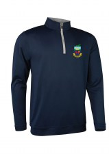 Glenmuir Kilrush Golf Club Mens Midlayer Half Zip (Navy Grey) Medium