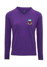 Asquith & Fox Kilrush Golf Club Womens V Neck Jumper (Purple) XS