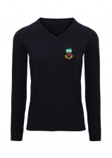 Asquith & Fox Kilrush Golf Club Womens V Neck Jumper (Navy) XS