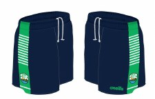 O'Neills Kilrush LGFA Shorts (Navy Green White) 5-6