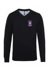 Asquith & Fox Kilrush Rugby Club Mens V Neck Jumper (Black) Small