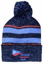 CS Killaloe Sailing Club Bobble Hat (Melange Navy Blue Red) One Size