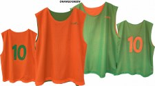 LS Reversible Numbered Bibs (Green Orange) Senior