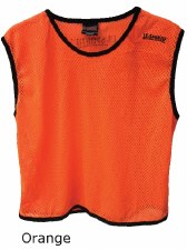 LS Mesh Bib Large Boys Orange