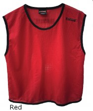 LS Mesh Bib Large Boys Red