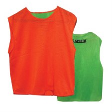 LS Reversible Junior Training Bib (Green Orange)