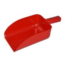 Mackey Plastic Feed Scoop (Red)