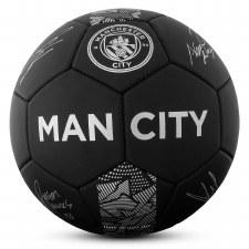 Man City Phantom Signature Ball (Black Silver) Size 5