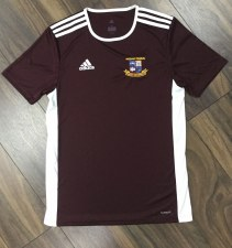 Adidas Entrada Miltown Training Tee Adults (Maroon White) Large