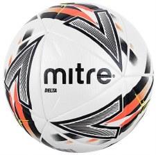 Mitre Delta One Football (White Black Orange) Size 5