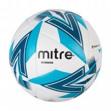 Mitre Ultimatch Match Ball (White Aqua Blue) Size 4