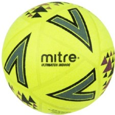 Mitre Ultimatch Indoor Footbal (Yellow Black) Size 5