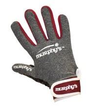 Murphy Gaelic Gloves (Melange Grey Maroon White) 7