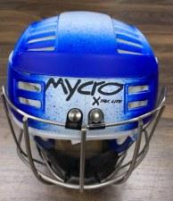 Mycro Hurling Helmet (Royal White Faded) Small