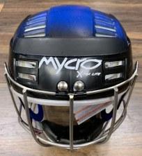 Mycro Hurling Helmet (Black Blue Faded) Small