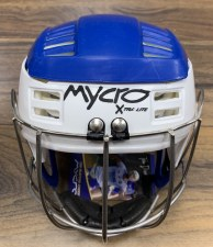 Mycro Hurling Helmet (Blue White) Medium