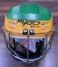Mycro Hurling Helmet (Green Amber) Medium