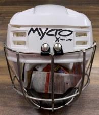 Mycro Hurling Helmet (White) Small