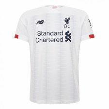 New Balance Liverpool Away Jersey Adults Short Sleeve 2019/2020 (White) Small
