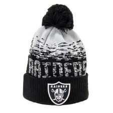 New Era Raiders NFL Bobble (Black Grey) OSFA Adults