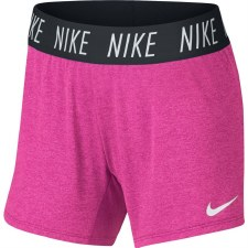 Nike Girls Dry-Fit Trophy Shorts (Pink Black) Small Girls
