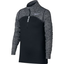 Nike Dry Element Top 1/2 Zip Top (Black Marl Grey) Large