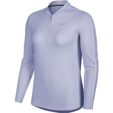 Nike Court Dri Fit 1/2 Zip Long Sleeve Top (Purple) Medium