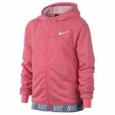 Nike Girls Dry Studio Full Zip Hoody (Pink) Age 6-8