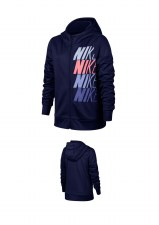 Nike Girls Therma Hoodie FZ GX  (Navy/Pink/Purple) XSB