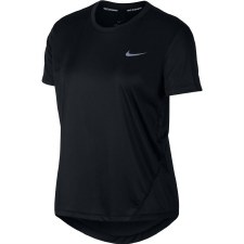 Nike Miler Ladies Running Tee (Black) Large