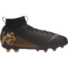 Nike Junior Superfly 6 Club Firm Ground MG (Black Gold) 5