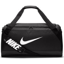 Nike Brasilia Duffel Holdall (Black White) Medium