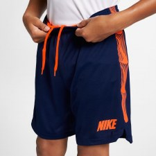 Nike Boys Dry Squad Shorts (Navy Orange) LB